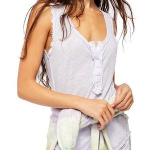 Free People Vacay Linen Blend Tank Top Size XS